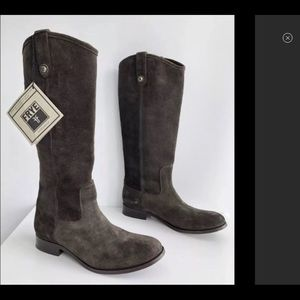 FRYE brown leather suede boots size 9